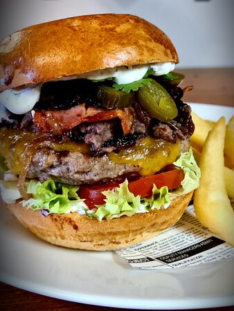 Hot Mexican Burger with Black Bean Paste