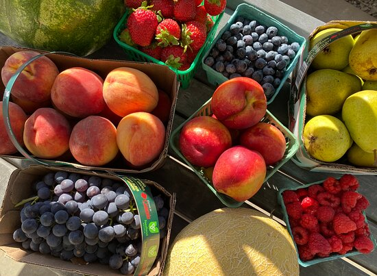 Summer 2021 fruit at Cider Keg Farm Market