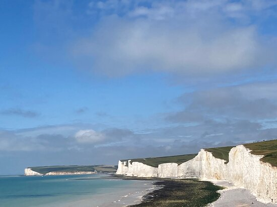 Eastbourne, UK: 9.  Birling Gap and the Seven Sisters Country Park;  the Seven Sisters from the Belle Tout Lighthouse side