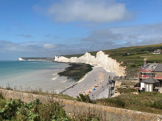 Eastbourne, UK: 10.  Birling Gap and the Seven Sisters Country Park;  the Seven Sisters from the Belle Tout Lighthousr side