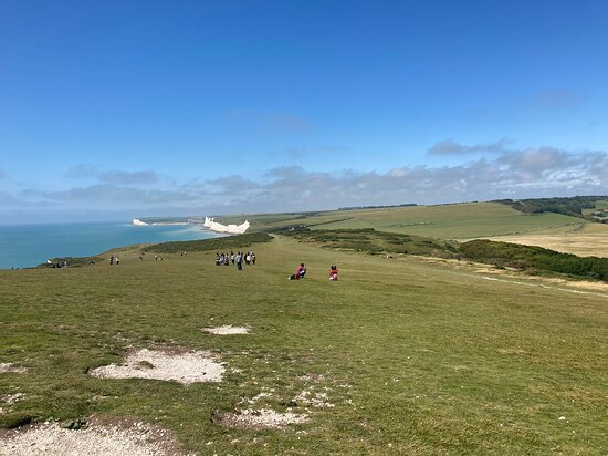 Eastbourne, UK: 12.  Birling Gap and the Seven Sisters Country Park;  the Seven Sisters from the Belle Tout Lighthouse