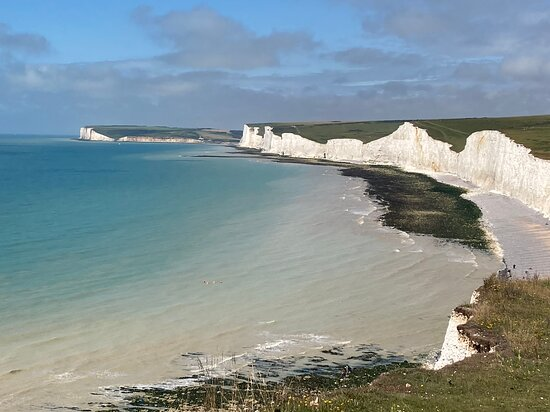 Eastbourne, UK: 11.  Birling Gap and the Seven Sisters Country Park;  the Seven Sisters from the Belle Tout Lighthouse side