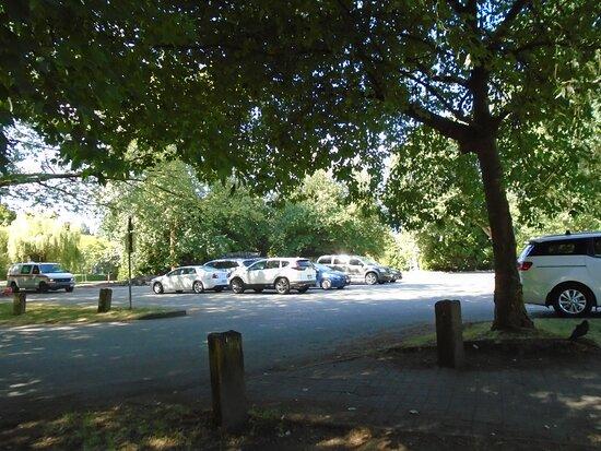 Parking lot near the southeast corner