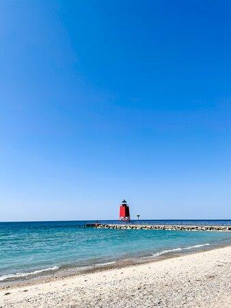 Lake Michigan beach, 5 minute walk from Hotel Earl
