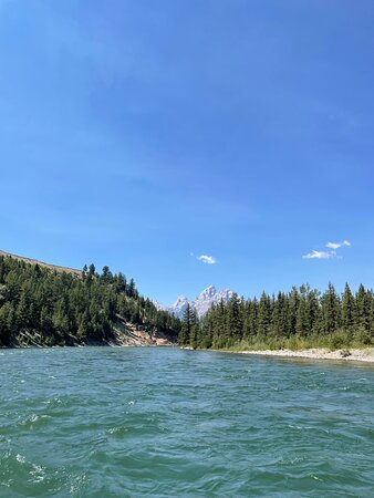 View of the Grand Tetons from Snake River
