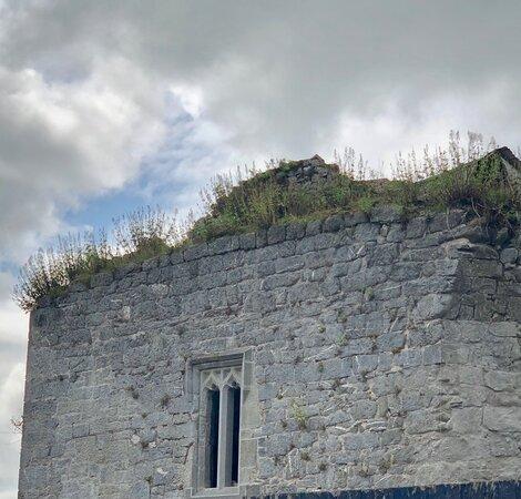 A window along the walls