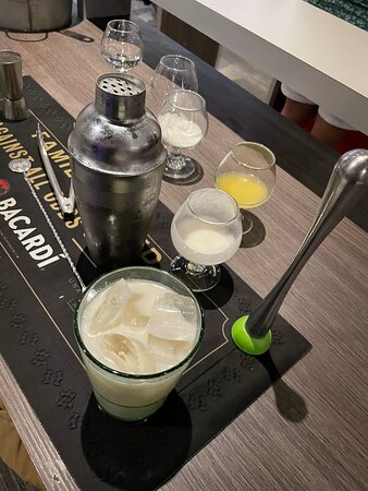 Mixology Class of Mojito and Shaken Piña Colada in Puerto Rico: pina colada I made
