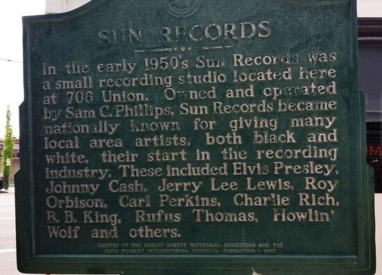 Sun Studio Entré med guidad tur: sign