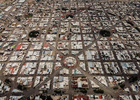 Trazo de ciudad Delicias.