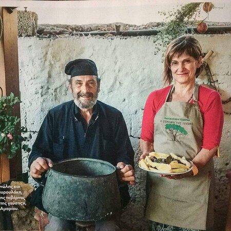 Manolis and Eleni. The soul of the taste's turn
