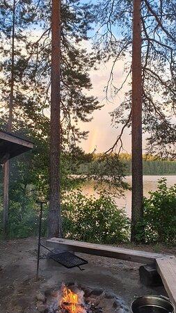 Ilomantsi, Finland: Keltasilmä laavu and rainbow