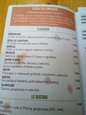 Bellaria-Igea Marina, Italy: Piadine e Cassoni splendidi!!