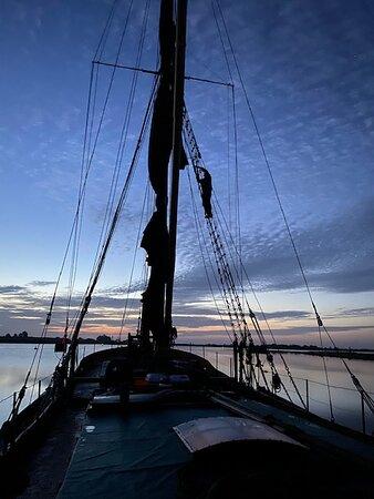 Paul getting sails ready