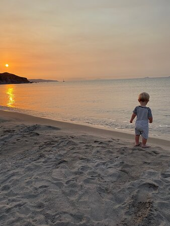 Sun Rise from the beach with my boy
