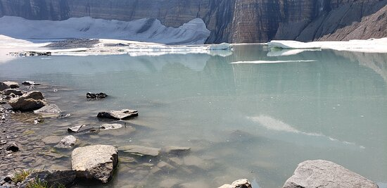 View of lake and glacier
