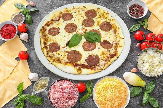 Pizza Pepperoni Sauce tomate, Mozzarella, Pepperoni, Origan