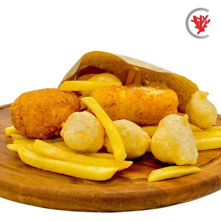 Crocchè di patate artigianale, arancino, frittelle, patatine fritte e timballo napoletano 🤤😘