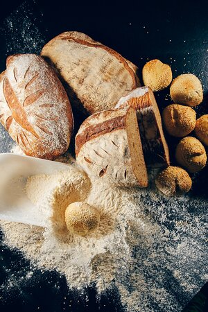 Homemade bread & olive oil