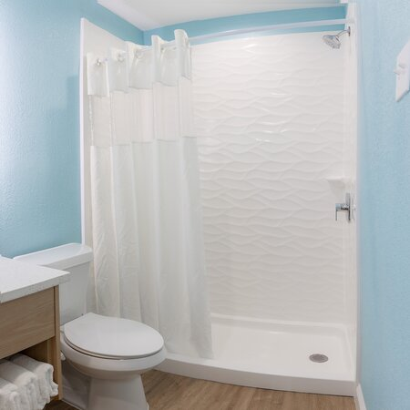 Newly Remodeled Shower in Front Building