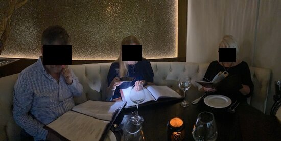 Using phones to read the menu