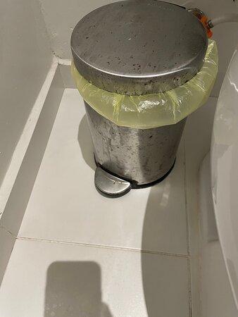 Bathroom moldy and room run down.