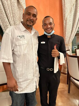 The BEST server/waiter Wady took great care of us.