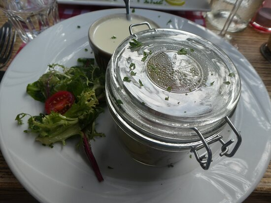 Saucissons in a glass container