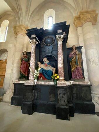 A shrine inside the church.