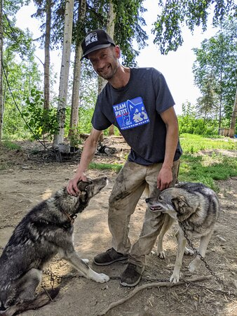 Sled Dog Mushing and Kennel Tour - 2 Hours: Nic and two of his beautiful sled dogs