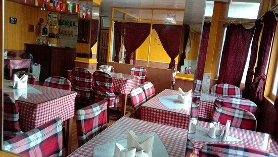 Darjeeling, Indien: Our restaurant