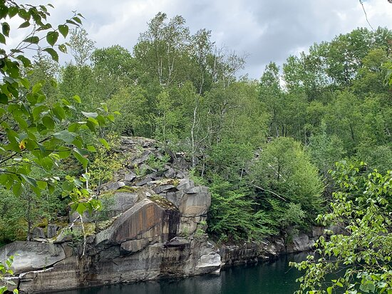 This area is littered with abandoned quarries