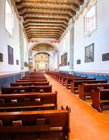 Mission San Luis Rey Museum Admission: Long and narrow (typical) church design