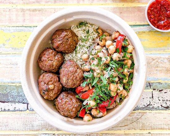 Butcher's Kofte (Meatball) Rice Bowl