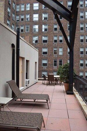 Balcony on One Bedroom Penthouse