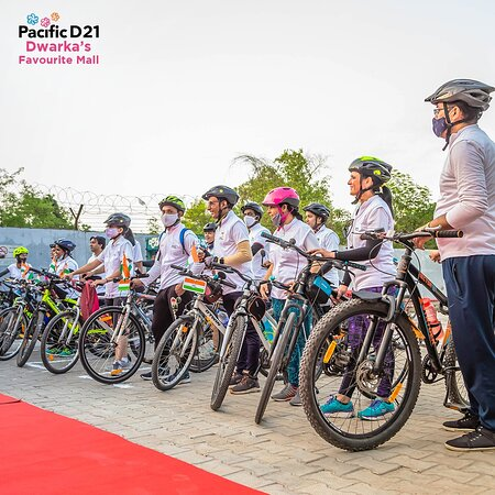 We would love to thank everyone who was a part the Rising Riders cycling competition & made it a success! Pacific D21 Mall, Dwarka.