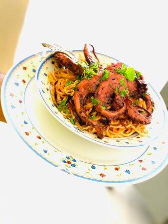 Spaghetti poulpes