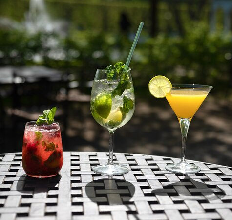 Most popular drinks - raspberry and classical mojito, passionfruit martini