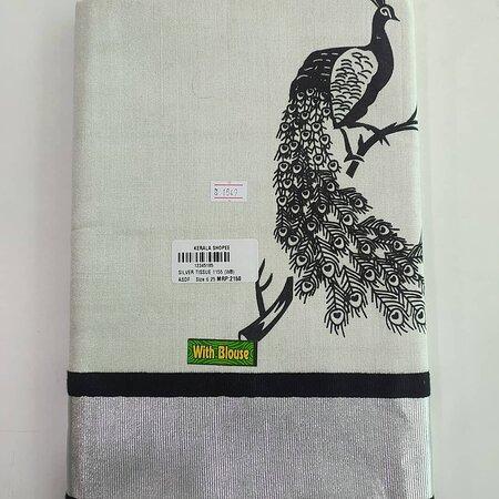 Kerala sarees silver tissue