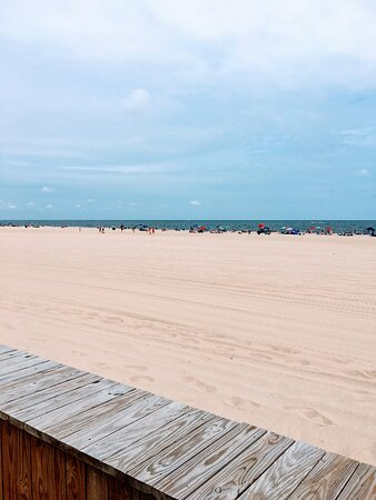 The sand at Point Pleasant Beach is one of the widest on the Jersey shore.