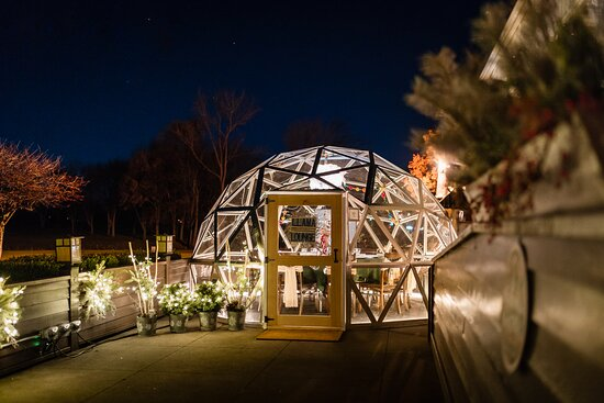 Camp Ticonderoga welcomes heated igloos every winter for a special seasonal dining experience.  Reservations must be made in advance at https://campticonderoga.com/igloos.