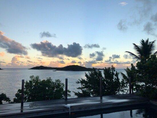 Cul de Sac, St Marteen/St. Martin: Piscine, coucher de soleil, cuisine