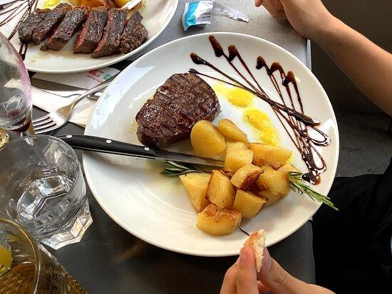 Beef steak dish