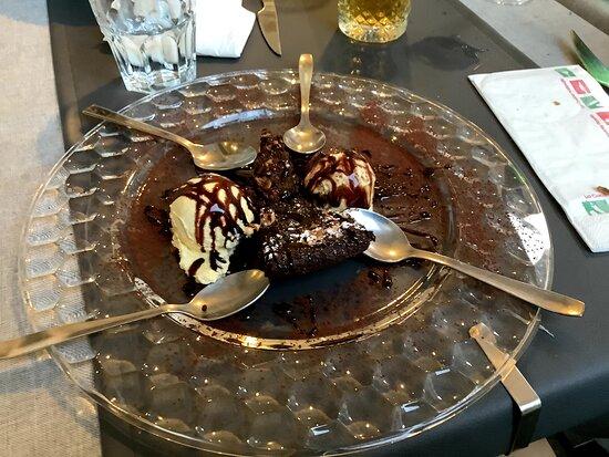 Lava chocolate ice-cream