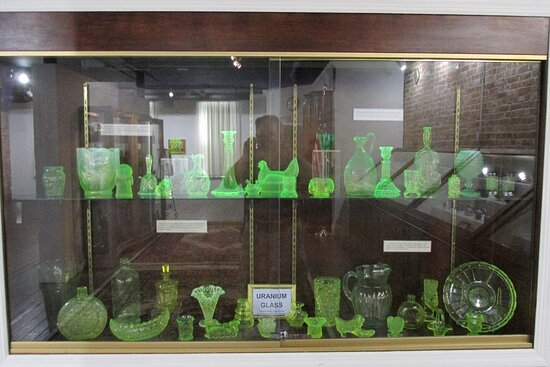Uranium Glass Display (Second Floor)