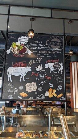 Meat banner at Shabu-Shabu.