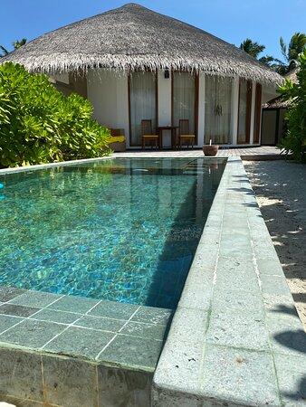 Front view. Beachfront Villa at Angsana Velavuru.