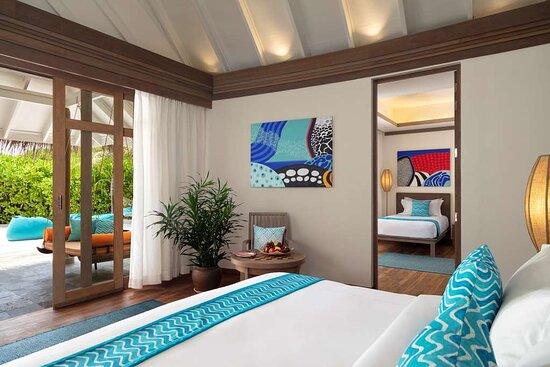 Two Bedroom Family Villa master bedroom with king-sized bed