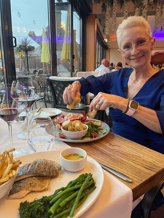 A celebration dinner at The Quayside, St Helier.