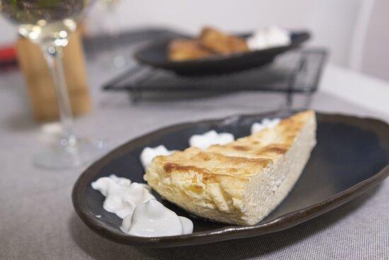 Tarta de queso casera. Sin Gluten.