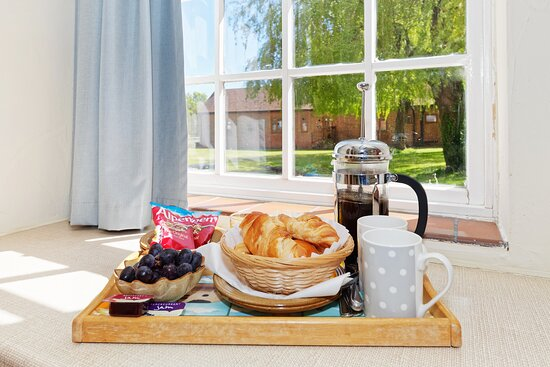 We serve a continental breakfast to guest rooms